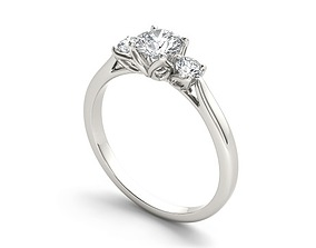 Engagement ring 160 3D model