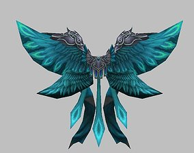 3D asset Blue Eagle Wing