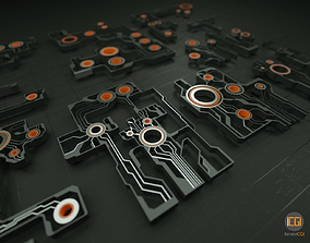 3D model futuristic Tech shapes-TS1 kit