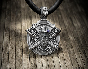 3D print model Pendant warrior with axes
