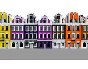 3D asset game-ready city district