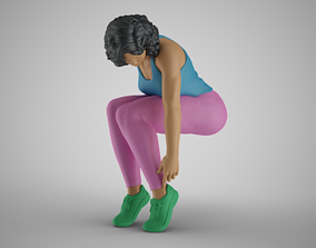 Woman Trying Shoes 3D print model