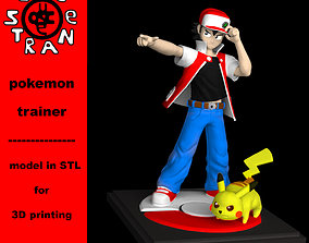 Pokemon Trainer Red Pikachu version 3D print model