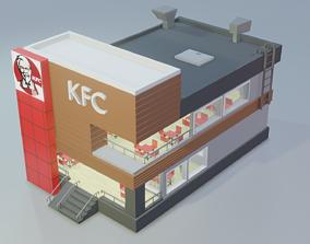 3D asset KFC - Low Poly