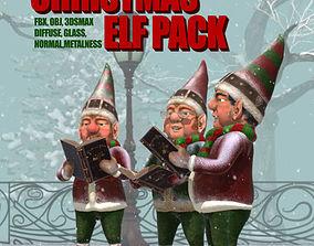 Christmas Elf Pack 3D asset rigged