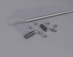 3D model Dental implants set