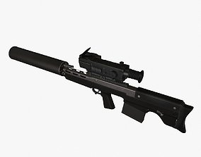 3D model Vyhlop Sniper Rifle