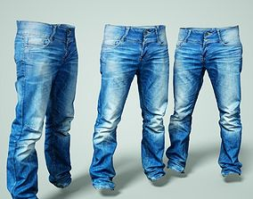 Jeans Trousers 3D asset game-ready
