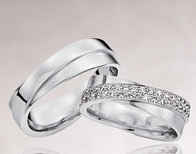 Wedding rings 219 3D printable model