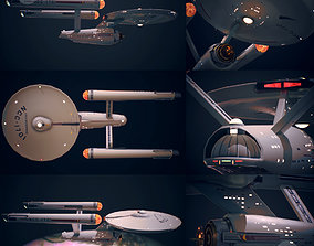 USS Enterprise NCC1701 Game ready low-poly 3d low-poly