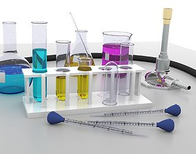 Chemistry Lab Equipment 3D model
