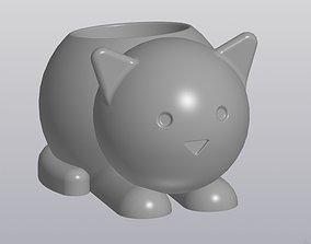3D print model Flowerpot Cat