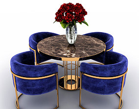 flowers 3D Table and chairs