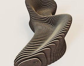 3D Parametric 2 seeted bench