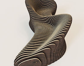 3D Parametric 2 seeted bench