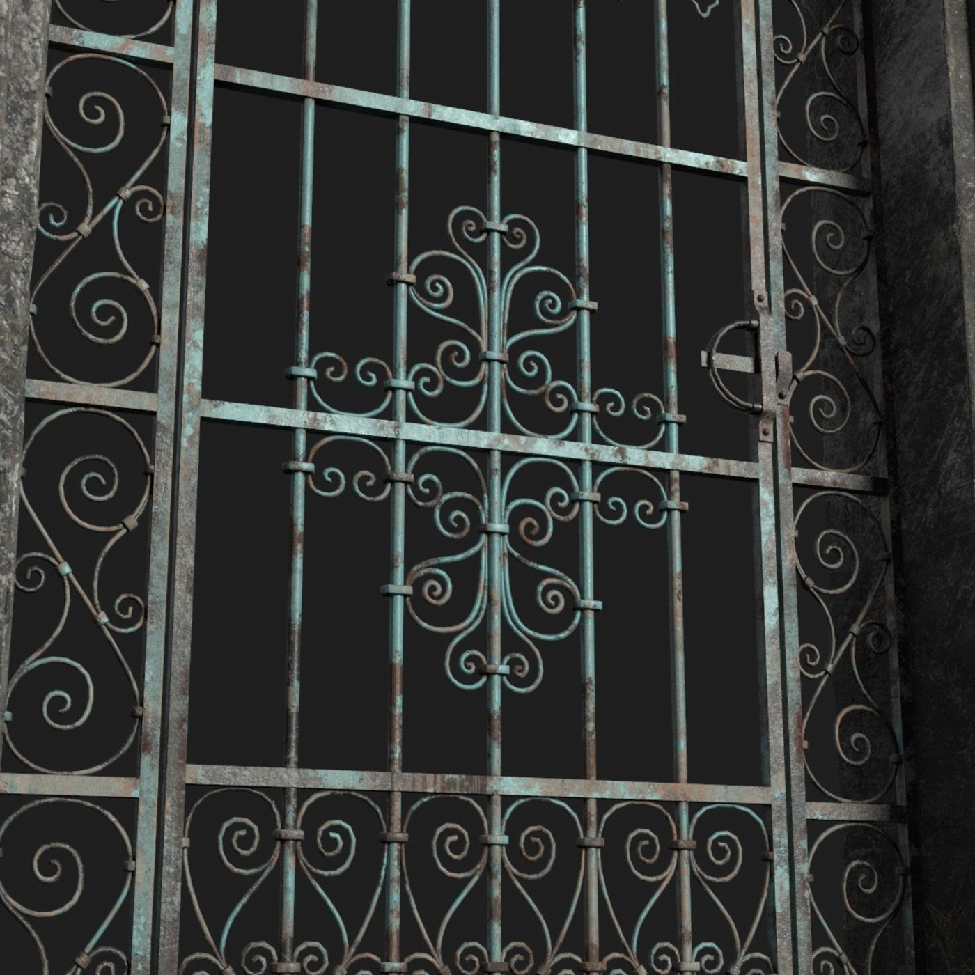 Old Forged gate