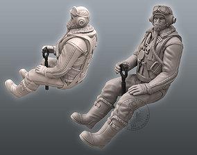 fighter 3D print model Spitfire Pilot