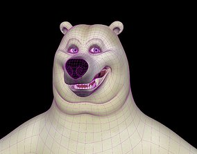 3D model animated winter Polar Bear