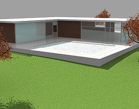3D model Simple Modern House