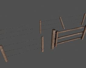 3D model Wood Fence pack