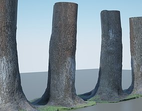 3D bush Tree Trunk - 04