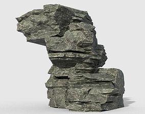 Low poly Beach Cliff Rock 10 3D model