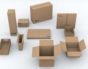 3D asset 10 different Boxes