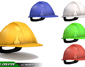 Worker Safety Helmet Collection Lowpoly 3d model
