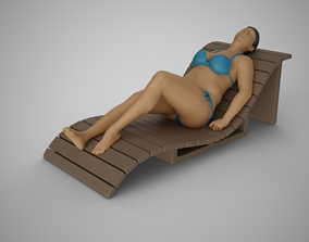 3D printable model Woman on the Sunbed