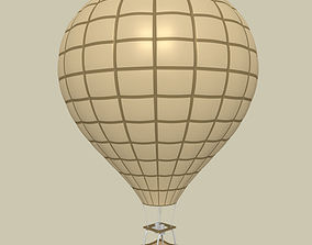 3D asset low-poly Hot Air Balloon
