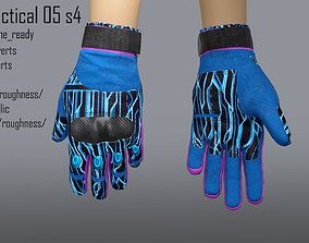 3D asset rigged FPS hand glove tactical 05 s4