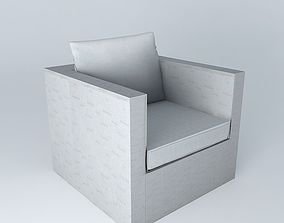 Armchair gray IBIZA houses the world 3D