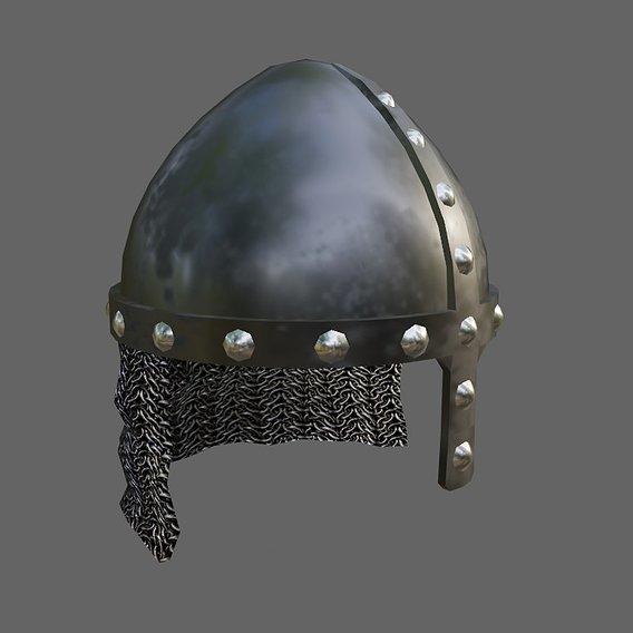 Medieval Iron Helmet