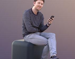 John 10477 - Sitting Casual Man 3D model