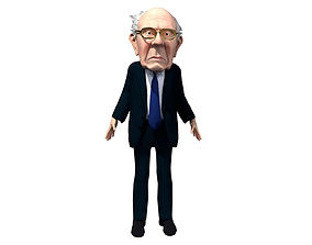 3D model Bernie Sanders Caricature