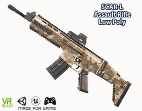 SCAR-L Assault Rifle 3D model