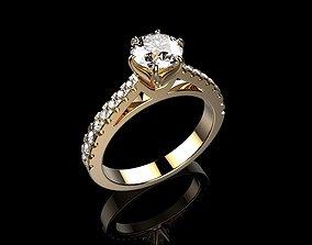 Solitaire Engagement Rings Brilliant 3D print model