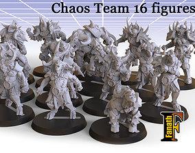 Chaos Team 16 figures 3D printable model
