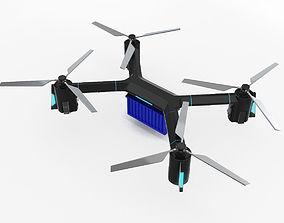 Cargo Quadrocopter Dron Concept 3D model