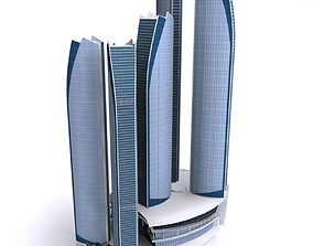 ETIHAD TOWER Low poly 3D asset