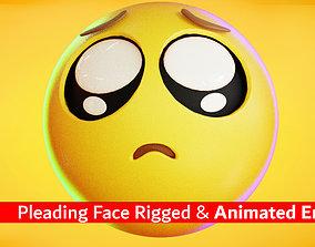 3D asset Animated Crying Sad Emoji icon
