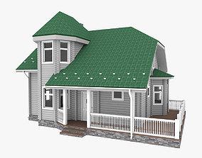 3D model American Woodframe House