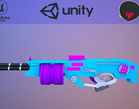 ski-fi cartoon rifle machine 3D model