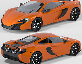 orange McLaren 650s 3D model