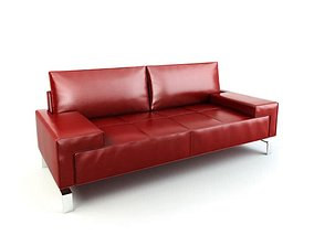 Red Modern Sofa red 3D