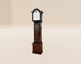 Grandfather Clock 3D model low-poly