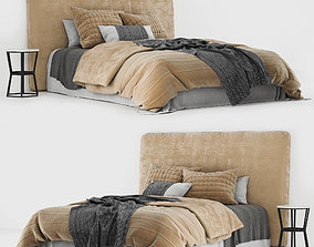 3D model Linen bed 02
