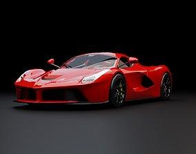 Ferrari LaFerrari 2014 2015 super luxury sports car 3D