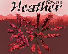 3D Heather flower