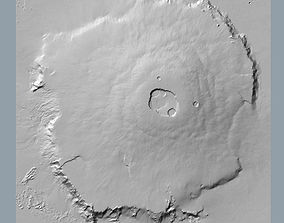 Olympus Mons Accurate Scale 3D model